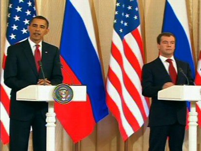 Video of Obama and Medvedev talking about nukes.