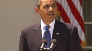 Video of Obama addressing the economy after the government report that jobless rate in July fell for the first time in 15 months.