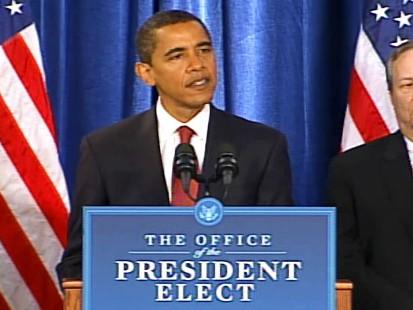 pic of president-elect barack obama unveiling his economic team
