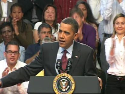 Video of President Barack Obama praising Sen. Reid in Las Vegas.