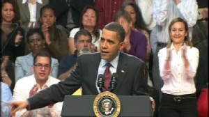Video of President Barack Obama praising Sen. Reid in Las Vegas.
