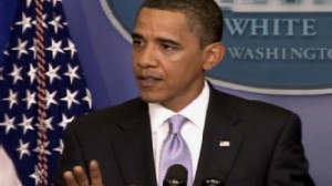 Video from the presidents press conference.