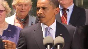 Video of Obama congratulating Senate panel on health care bill.