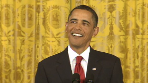 Video of President Obama joking about his Nobel Peace Prize win.