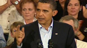 Video of President Obama holding a town hall event to discuss health care reform.