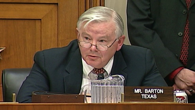 Video: Congressman Joe Barton R-Texas apolgizes for shakedown remarks.