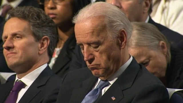 VIDEO: Does Vice President Joe Biden nod off during Obama's remarks?