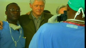 Video of Bill Clinton in Haiti.