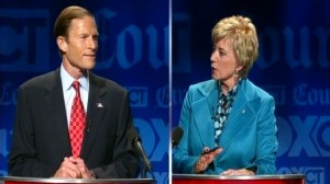 Video: Candidates get heated at Conneticut Senate debate.