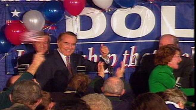 Video of Bob Dole on the presidential trail in 1996.