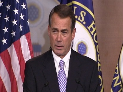 Video: Rep. Boehner remarks on Scarborough claims.