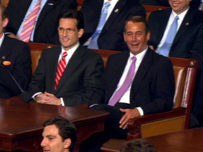 ABC News video of SOTU: Cantor and Boehner React
