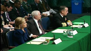 ABC News video of Clinton, Gates, Mullen testifyin
