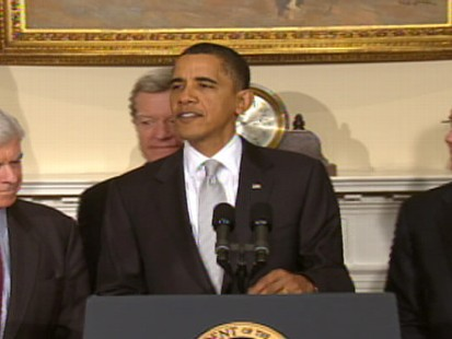 Video of President Barack Obama saying he is cautiously optimistic on health care.