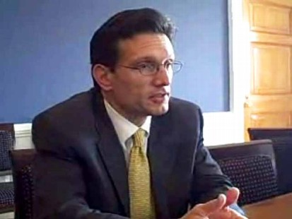 Video of Rep. Cantor discussing the Va. governors race