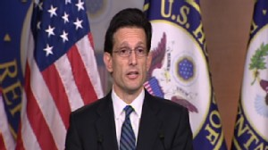 Video of Republican Eric Cantor on health care threats.