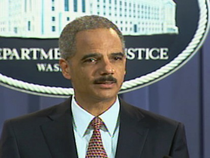 Attorney General Eric Holder announcing that five Gitmo detainees, including KSM, will be tried in federal court.