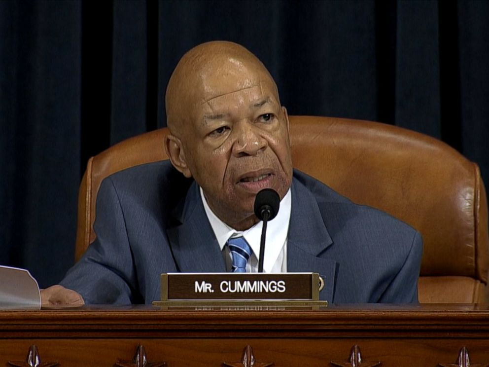 PHOTO:Representative Elijah Cummings, a Democrat from Maryland, questions Hillary Clinton, not pictured, during a House Select Committee on Benghazi hearing in Washington, Oct. 22, 2015.