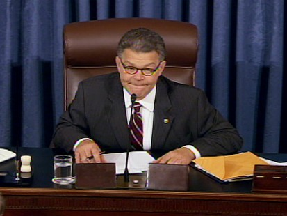 ABC News video of Al Franken presiding over Sotomayors confirmation.