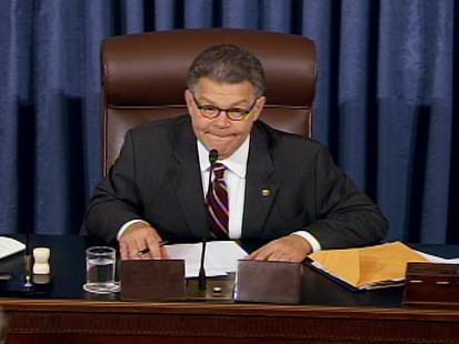ABC News video of Al Franken presiding over Sotomayors confirmation.