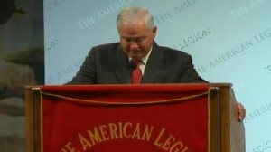 Video: Secretary Gates chokes up at speech to American Legion.