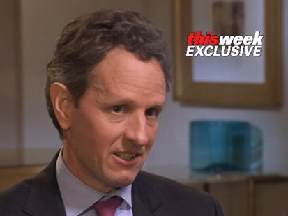 Video of Treasury Secretary Timothy Geithner on recession.