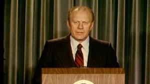 Video of President Ford nominating John Paul Stevens to Supreme Court.