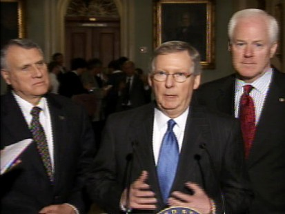 pic of gop senators on capitol hill discussing auto industry bailout