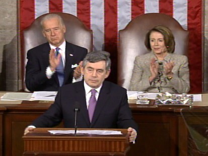 Video of Prime Minister Gordon Brown address Congress.