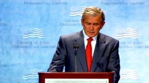 Video of George W. Bush speaking at Southern Methodist University.