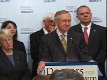 Video of Sen. Harry Reid defending the health care reform process.
