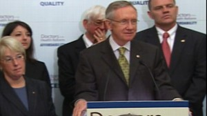 Video of Sen. Harry Reid defending the health care reform process.