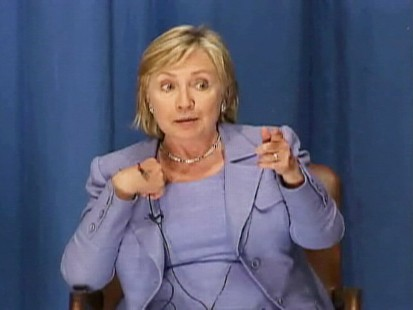 ABC News video of Hillary Clinton snapping at student.