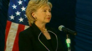 Video of Secretary of State Hillary Clinton praising the humanitarian effort in North Korea.