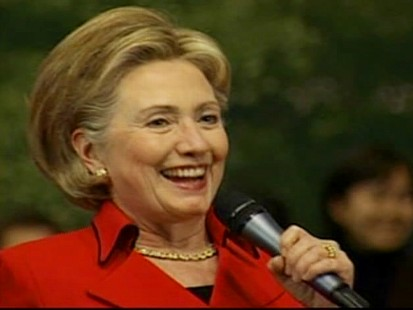 "Video of Secretary of State Hillary Clinton in South Korea acting as an ""advice columnist."""