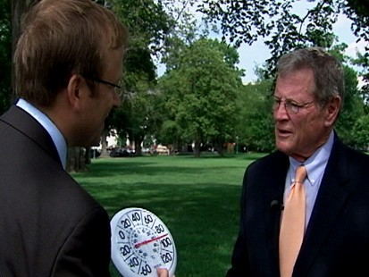 Video: ABC News Jonathan Karl Interviews Sen. Inhofe on global warming.