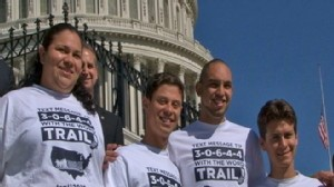 Video of undocumented immigrants on Capitol Hill.
