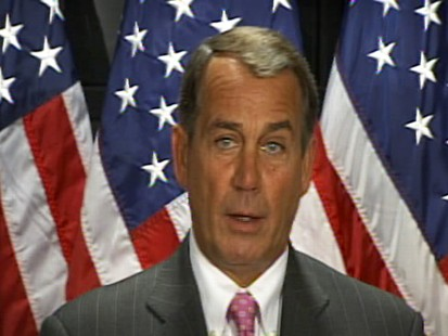 Video of Republican Rep. John Boehner or Rep. Charlie Rangel.