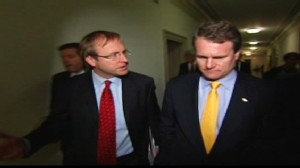 Video of Bank CEOs at financial hearing on bonuses, Wall Street.