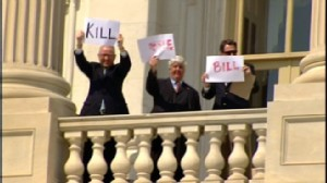 ABC News video of Tea Party protestors at the Capitol.