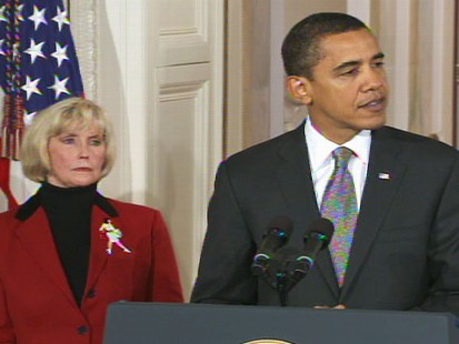 Video of President Barack Obama signing the Lily Ledbetter equal pay bill.