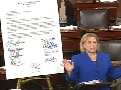 Video of Senator Mary Landrieu defending the so called Louisiana Purchase.