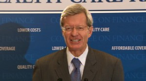 Video of Sen. Max Baucus presenting his health care plan.