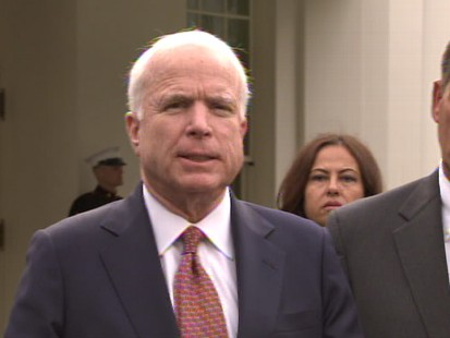 Video of Sen. Reid, Speaker Pelosi, Sen. McCain and Rep. Boehner discussing the meeting with President Obama about Afghanistan strategy.