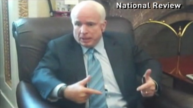 Video: Sen. McCain gets heated over Don't Ask Don't Tell.