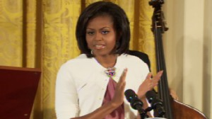 ABC News video of Michelle Obama at the White House