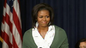 Video of First Lady Michelle Obama talking about health care.