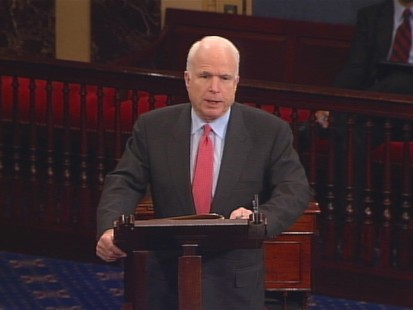 Video of Senator John McCain on Senate floor defending Arizona immigration law.