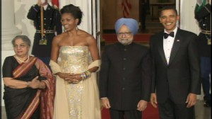 ABC News video of President Obama welcoming State Dinner guests of honor.