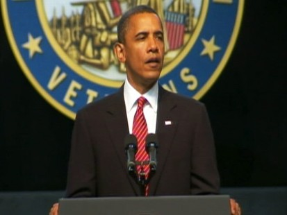 Video: President Obama talks to vetrans.